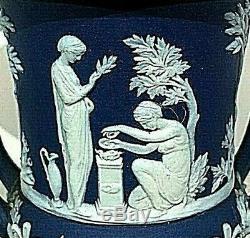 C. 1891 Wedgwood Jasperware Campana Urn Cupid As Oracle 6 Mnt Condition