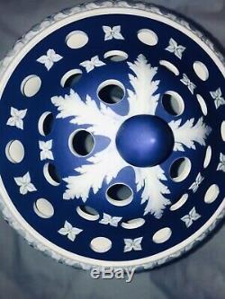 C. 1930 Large Wedgwood Cobalt Blue Jasperware Campana Urn Mint Condition