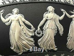 C. 1957 WEDGWOOD BLACK Jasperware DANCING HOURS 10.25 Bowl MINT PERF