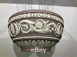 C. 1960 Wedgwood Jasperware Lilac RARE Arabesque Bowl Stunning Colours MINT