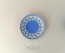 C1795 Wedgwood Tri-colour Blue Dipped Japser Diceware Quatrefoil Cup & Saucer