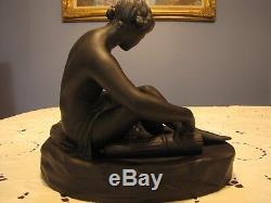 DIANA BLACK BASALT JASPERWARE LARGE FIGURINE by WEDGWOOD & BENTLEY 13