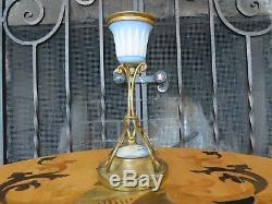 Elegant Antique Wedgwood Blue Jasper Ware Mounted Ormolu 6 Candle Stick Holder