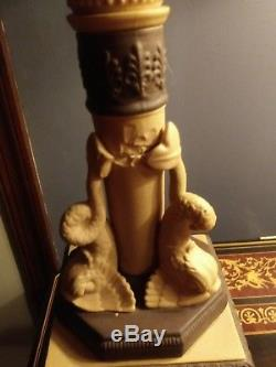 Exceptional Wedgwood Jasperware Angels Dolphins Sphinx Lamp by Marboro