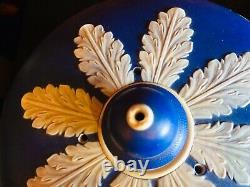 Exquisite Antique Dark Blue Jasperware Cheese Dome & Stand. Neo Classical Scene