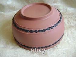 Exquisite & Rare Wedgwood Black On Terra Cotta Jasperware 8 Centerpiece Bowl