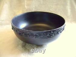 Exquisite Wedgwood Black Basalt Jasperware 10 Centerpiece Bowl Grapevine Design