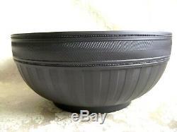 Exquisite Wedgwood Black Basalt Jasperware Bowl Signed By Lord Wedgwood