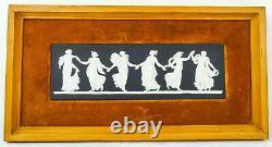 Fantastic Wedgwood Framed Black & White'Dancing Hours' Plaque Jasperware