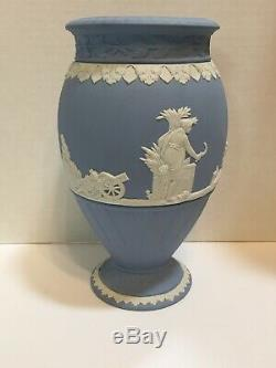 HUGE Wedgwood Blue 7 3/4 Vase Tall And 5 At Center Widest
