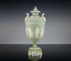 Klassizistische Wedgwood Vase 19. Jahrhundert 1879 Jasperware Musentanz Flaxman