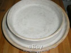 LARGE DARK BLUE Jasper Ware Cheese Dome Dish 11 INCHES HIGH