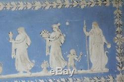 Large 19th Century Jasper Ware Roman Figural Plaque / Panel