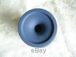 Large Rare Wedgwood Portland Blue Jasper Ware 7 1/2 Pedestal Vase