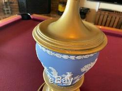 Large Wedgwood Jasperware Blue Table Nightstand Lamps Set of 2, 31 Take a look