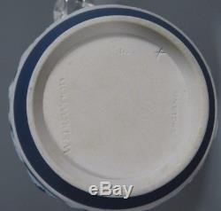 Lot 4 Wedgwood Jasperware Dip Cobalt Blue White Partial Tea Set ca. 19th c