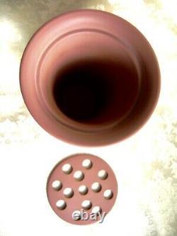Lovely Large Wedgwood Terracotta Jasperware Arcadian Vase With Frog Insert