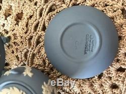 Miniature Wedgwood Blue Jasperware Tea Set