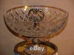 Monumental Custom Wedgwood Green Jasperware Centerpiece / Crystal / Marble