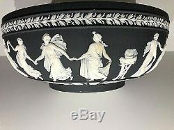 NEW C. 1962 WEDGWOOD BLACK Jasperware DANCING HOURS 10 Large Bowl NEW