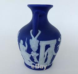 Nice Wedgwood Cobalt Blue Jasper Ware Vase, 5 Portland