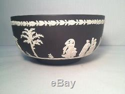Nice Wedgwood Porcelain Black Basalt Jasperware Neoclassical Bowl