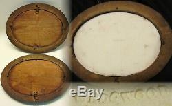 Pair Antique Wedgwood Lilac Jasperware Cameo Cherubs & Geese Chariots Plaques