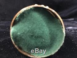 Pair -Wedgwood Jasperware Drop Crystal 8.5 Girandoles with Brass Cherubs