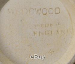 Pr English Wedgwood Jasperware Vases 5-1/8 Black on Yellow Classical Vignettes