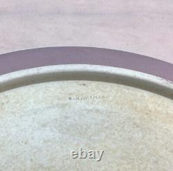 RARE 19thc Wedgwood Tri-color Jasperware Salad Bowl Mappin Webb Silver Plate Rim