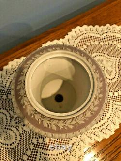 RARE Antique Wedgwood England Lilac Jasperware Dip Urn Vase