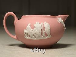 RARE! Vintage WEDGWOOD Child's Mini/Miniature PINK JASPERWARE 8 PIECE TEA SET