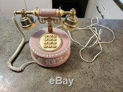 RARE Wedgwood Jasper Ware Pink Vintage Princess Push Button Phone Telephone
