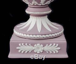 RARE Wedgwood Lilac White Jasperware Ram's Head Potpourri Urn Vase with Lid 12 H