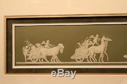 Rare Antique Wedgwood Green Jasper Ware Triumph of Cybele Framed Plaque (c. 1800)