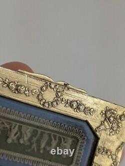 Rare Antique Wedgwood Tri Colour Jasperware & Silver Snuff Box c1830