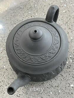 Rare Antique c. 19th Wedgwood Black Basalt Jasperware Teapot Pre 1780-1891