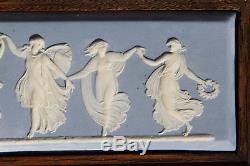 Rare Beautiful Wedgwood Blue Jasper Ware Dancing Hours Framed Plague (c. 1820s)