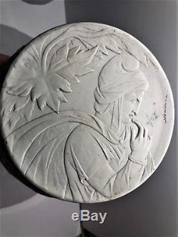 Rare C. 1810-40 Wedgwood Cobalt Blue Jasperware 10.25 Phrygian Cap Vase