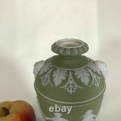 Rare Early 20th Century Olive Green Wedgwood Jasperware Urn Dancing hours