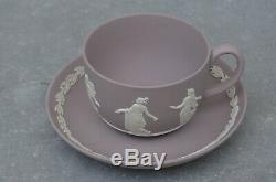 Rare England Wedgwood Jasperware Lilac Cup and Saucer Decor Dancing Hours