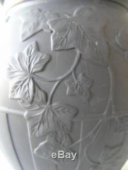 Rare Huge Wedgwood Black Basalt Jasperware Grapevine Centrepiece Vase 12 2.8kg