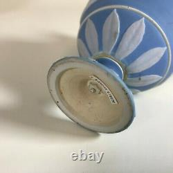 Rare Small 19th century Wedgwood Tricolor Jasperware Urn Blue, Pale Blue White