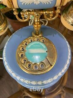 Rare Vintage Wedgwood Jasperware Rotary Phone Telephone Perfect Working Order