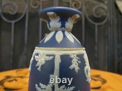 Rare Wedgwood Blue Jasper Ware Miniature 4 Psyche Cupids Trophy Vase Urn c. 1900