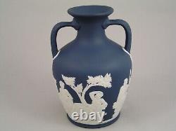 Rare Wedgwood Dark Blue Jasperware Classical 6 Portland Vase