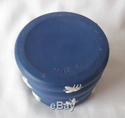 Rare Wedgwood Honey Pot Bees Blue Jasperware pot