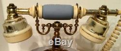 Rare Wedgwood Jasperware Astral Telephone Rare Rotary Dial Blue