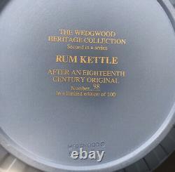 Rare Wedgwood Jasperware Rum Kettle Dancing Hours-Limited Edition 100(boxes+COA)