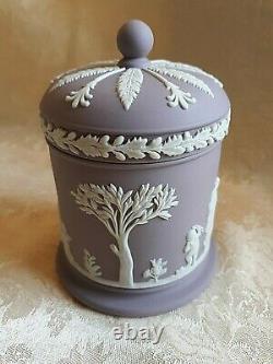 Rare Wedgwood Lilac Jasperware Round Lidded Container Olympus Or Tobacco Jar